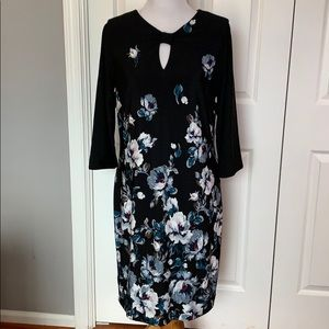 WHBM reversible black and flower print dress